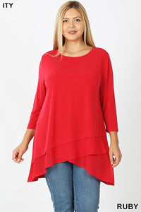 Plus Tunic ~ Rachel ~ Available in Multiple Colors