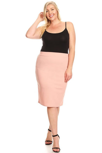 Plus Pencil Skirt ~ Lydia ~ Available in Multiple Colors *** HUGE SALE ***