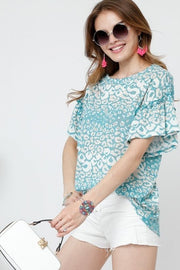 Top ~ Sharla ~ Available in Mint and Navy
