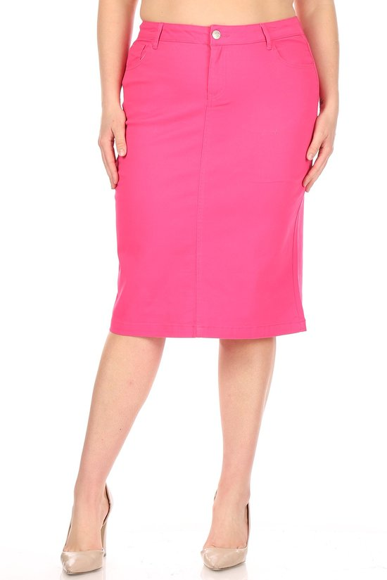 Plus Skirt ~ Paige ~ Available in Multiple Colors