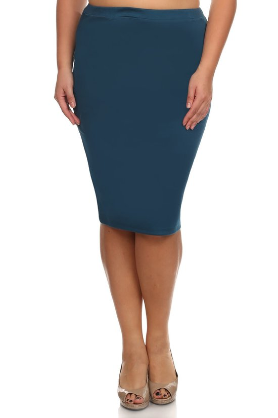 Pencil Skirt ~ Dark Teal