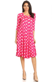 Dress ~ Krista ~ Available in Hot Pink and Red