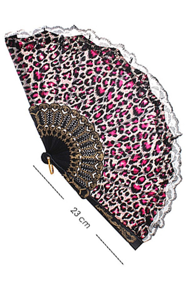 Leopard Print Fan ~ Laney