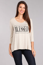 Top ~ Blessed ~ Available in Brick and Oatmeal