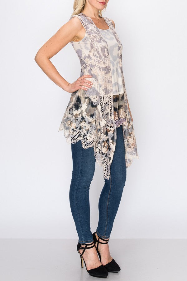 Lace Vest ~ Savannah