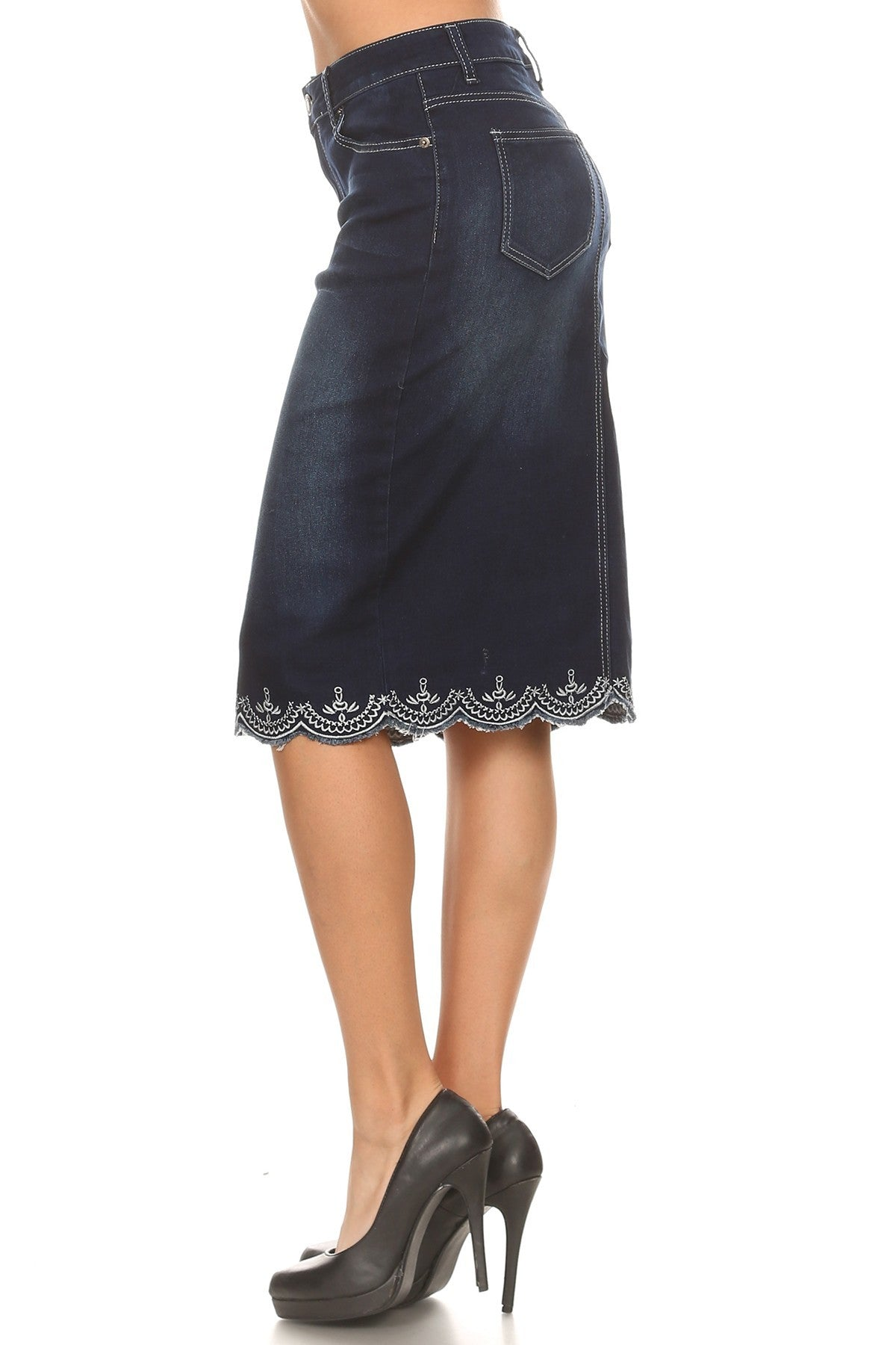 Denim Skirt ~ Lacy