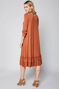 Dress ~ Bonnie ~ Available in Black, Mustard, Olive, Rust and Taupe