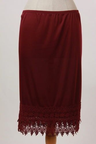 Plus Slip Extender ~ Grace ~ Available in Black, Burgundy, Ivory, Natural and Navy
