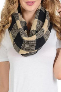 Buffalo Plaid Scarf ~ Bailey ~ Available in Green, Red, Tan and White