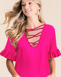 Top ~ Shelby ~ Available in Black and Fuchsia