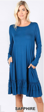 Plus Dress ~ Janie with Long Sleeves ~ Available in Multiple Colors
