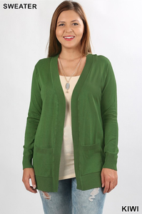 Plus Cardigan ~ Teresa ~ Available in Multiple Colors