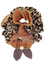 Leopard Print Scrunchie ~ Liz ~ Available in Three Colors