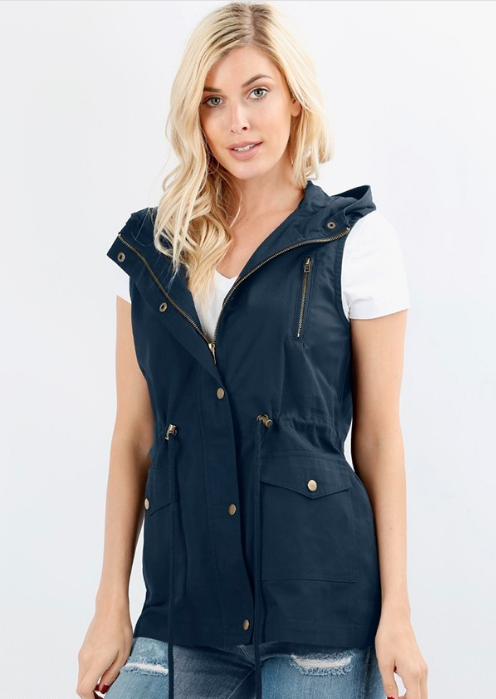 Plus Hooded Vest ~ Vera