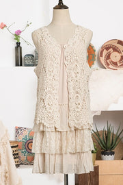 Vest ~ Becky ~ Available in Beige and White