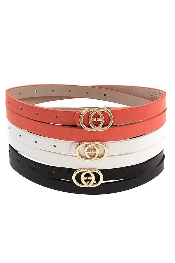 Intertwined Rings Fashion Belt