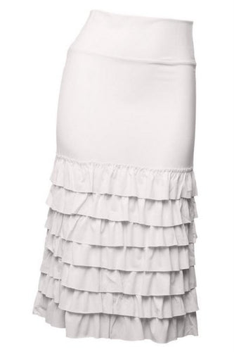 Plus Long Ruffled Skirt Extender ~ Lola ~ Available in Black, Cream and White