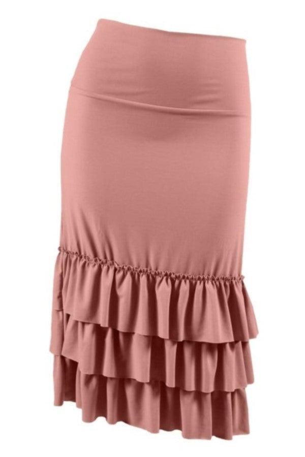 Plus Ruffled Skirt Extender ~ Lily ~ Available in Multiple Colors