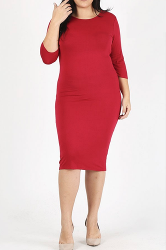 Restocked!!   Layering Dress ~ Jamie ~ Available in Black, Burgundy, Navy, Olive and Red