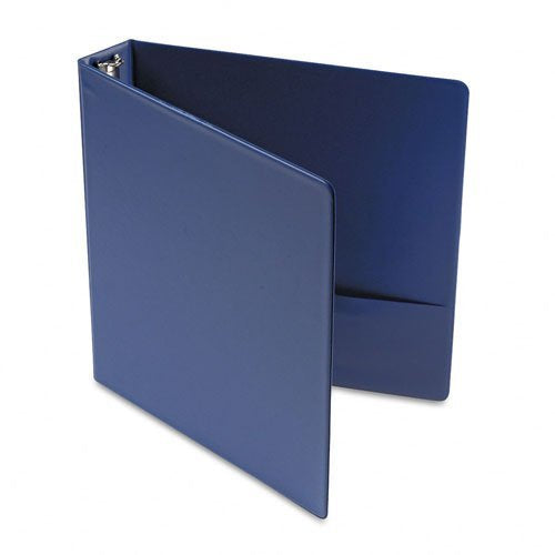 Universal 33402 Suede Finish Vinyl Round Ring Binder, 1-1/2in Capacity, Royal Blue, CASE OF 12 BINDERS