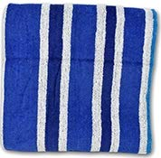 Rilney Striped Dobby Velour Beach Towel, 28 x 58 in, 4 Color to Choose from, (Blue Blue White Stripes)