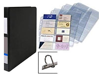 Premium Business Card Holder Organizer Binder, Holds 600 Cards, Heavy-Duty Ultimate Performance Binder, Locking D-Ring with 8 Tab Color Indexes and Custom Magnifier