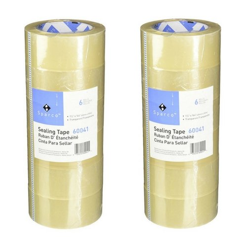 Sparco Sealing Tape Transparent Heavy Duty, 48mm x 50m (2 Pack)