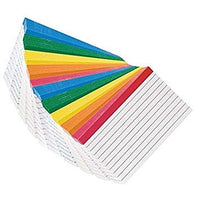 Color Coded Bar Ruled Index Cards 3 x 5 Assorted Colors 100/Pack PACK OF 5 …