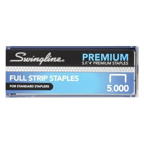 "Swingline Staples, S.F. 4, Premium, 1/4"" Length, 210/Strip, 5000/Box, 20 Boxes/Case, 1 Case (S7035450P-CS)"