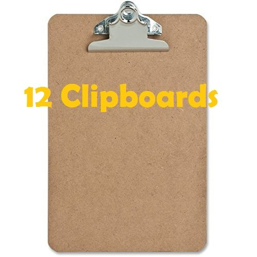"12 Pack – Mini Clipboard – Hardboard – 6"" x 9"""