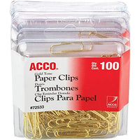 ACCO Brands Value Pack of Gold Tone Standard Paper Clips, Smooth Finish, Steel Wire, 20 Sheet Capacity,(A7072533) with Bonus AdvantageOP Letter Opener (500)