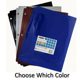 Poly Tabbed Envelope, Pre-Punched, Letter Size, Durable, Water Resistant (All...