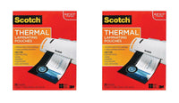 Scotch Thermal Laminating Pouches, 8.9 x 11.4-Inches, 3 mil Thick,2 Pack of 5...