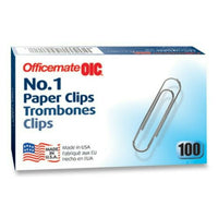 Wholesale CASE of 25 - Officemate No. 1 Size Paper Clips-Paper Clips, Size 1,...