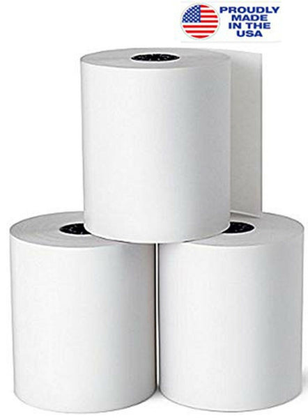 "Rilney Deluxe Direct Thermal Printing Paper Rolls, 3.13"" x 230 ft, White, (12)"