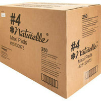 Naturelle #4 Maxi Pad Sanitary Napkin, 250 per Carton, Packed in Vend-able Box
