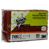 Scotch-Brite Griddle Cleaner Pad, Heavy Duty, Quick Clean for Baked-On Food a...