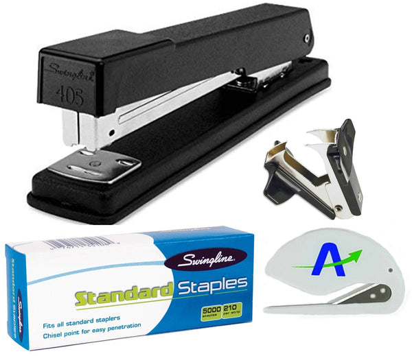 Swingline Stapler Bundle Includes 405 Metal Stapler, 5,000 Staples and Staple...