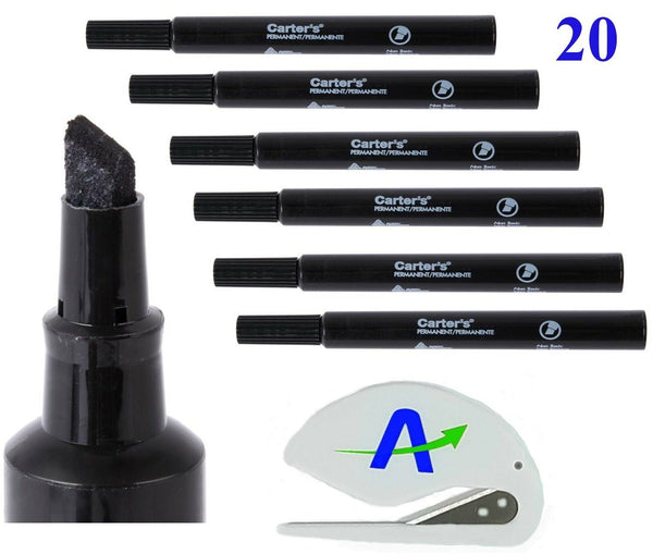 Bundle of 20 Avery Carter's Large Desk Style Permanent Markers, Non-Toxic, Lo...