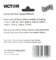 Bundle of 3 Genuine Victor Brand 7010 Black and Red Ribbons, for use with Aur...