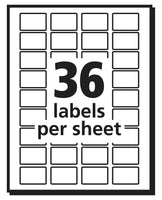 AVERY Removable Print or Write Labels, White, 0.5 x 0.75 Inches, Pack of 1008...