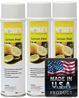 Misty Handheld Air Deodorizer, Lemon Peel, 10 oz Aerosol, 3 Cans