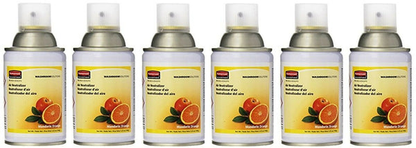 Rubbermaid Commercial Microburst Standard Aerosol Refill, Mandarin Orange, 6-PK