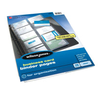 Wilson Jones Business Card Binder Page, 8.5 x 11 Inches, Untabbed, 10-Pack, C...
