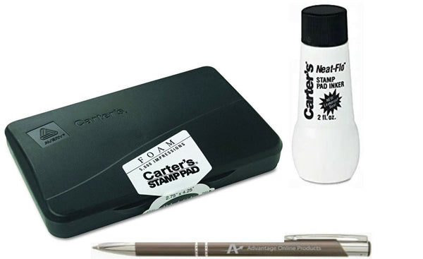 Avery Carter's Foam Stamp Pad, 2.75 x 4.25 Inch, Black, 1 Pad (21381) and Ave...