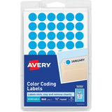 Removable Color Coding Labels, 4 Packs of 840,4 Colors Shown, Half Inch Round...