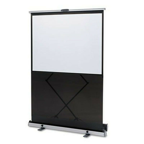 QUARTET MFG 980S Euro Portable Cinema Screen w/Black Carrying Case, 80quot; D...