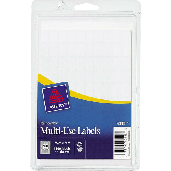 "Avery Consumer Products Products - Removable Multipurpose Labels, 5/16""x1/2"",..."