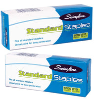 Twin Pack S.F. 1 Standard Economy Chisel Point 210 Full Strip Staples - 5,000...