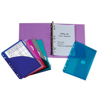 C-Line Mini Binder Starter Kit, Includes Binder, Index Dividers, Filler Paper and Binder Pockets, Colors May Vary, (30100) (3)